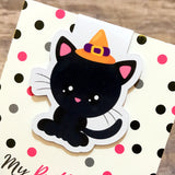 Halloween Magnetic Bookmark - Cat in Witch Hat-Magnetic Bookmark-My Pretty Week