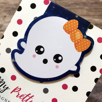 Halloween Magnetic Bookmark - Ghost 2-Magnetic Bookmark-My Pretty Week