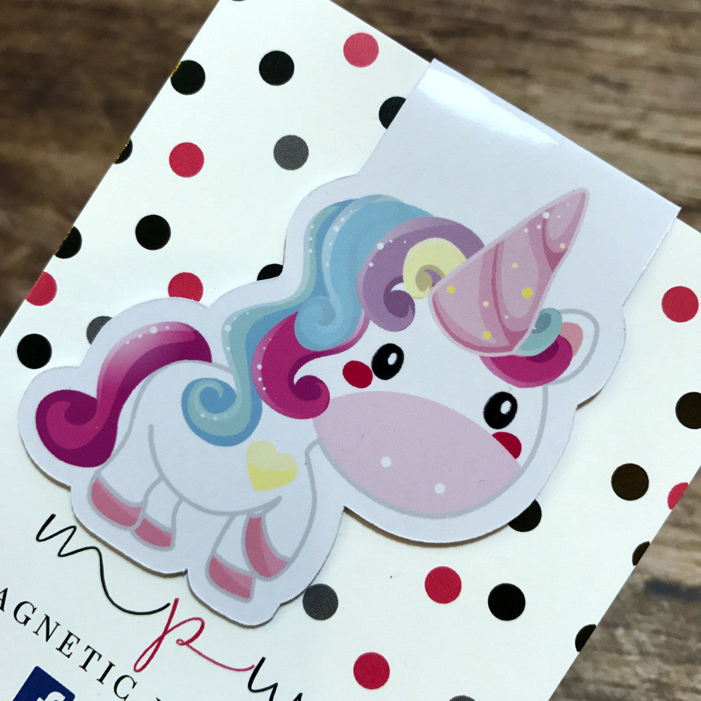 Happy Birthday to Unicorn - Magnetic Bookmark - Unicorn-Magnetic Bookmark-My Pretty Week