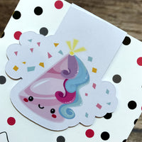 Happy Birthday to Unicorn - Magnetic Bookmark - Party Hat-Magnetic Bookmark-My Pretty Week