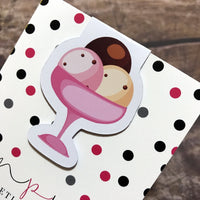 Magnetic Bookmark - Ice Cream-Magnetic Bookmark-My Pretty Week