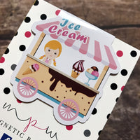 Magnetic Bookmark - Ice Cream Cart-Magnetic Bookmark-My Pretty Week