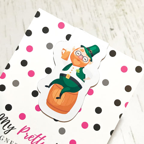 Lucky the Leprechaun Magnetic Bookmark-Magnetic Bookmark-My Pretty Week