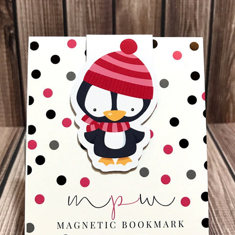 Penguin - Christmas Critters - Magnetic Bookmark-Magnetic Bookmark-My Pretty Week