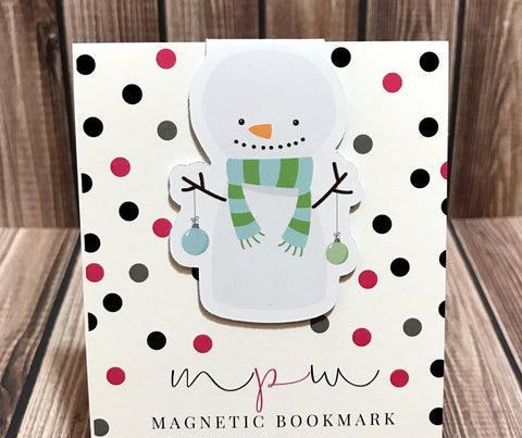 Snowman - Christmas Critters - Magnetic Bookmark-Magnetic Bookmark-My Pretty Week
