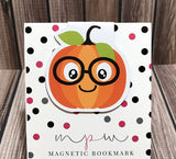 Bespectacled Pumpkin Magnetic Bookmark - Pumpkin Patch-Magnetic Bookmark-My Pretty Week