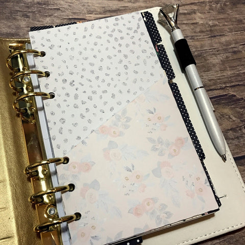 Peach and Grey - Planner Folder