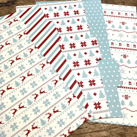 Red & Blue Holidays Set of 5 Planner Dividers-Planner Dividers-My Pretty Week