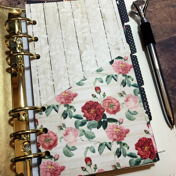 Shabby Roses - Planner Folder-Folder Divider-My Pretty Week