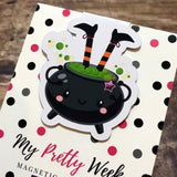 Cauldron Halloween Magnetic Bookmark-Magnetic Bookmark-My Pretty Week