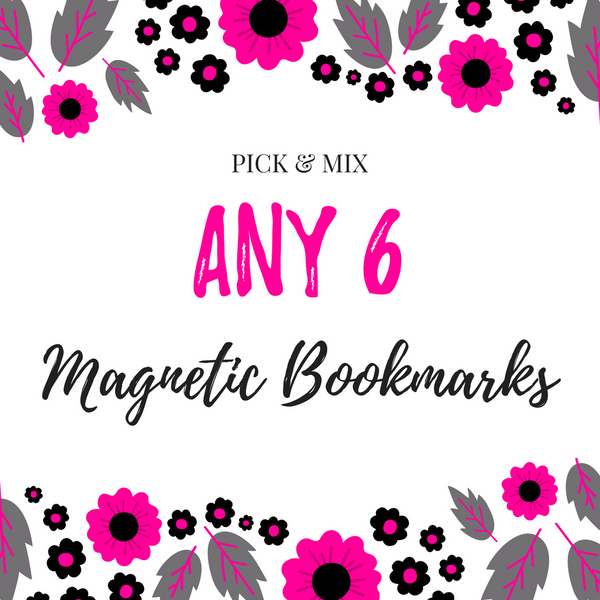 Pick & Mix Magnetic Bookmarks (6)-Pick & Mix Bookmarks-My Pretty Week
