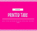 Printed Tabs Add On