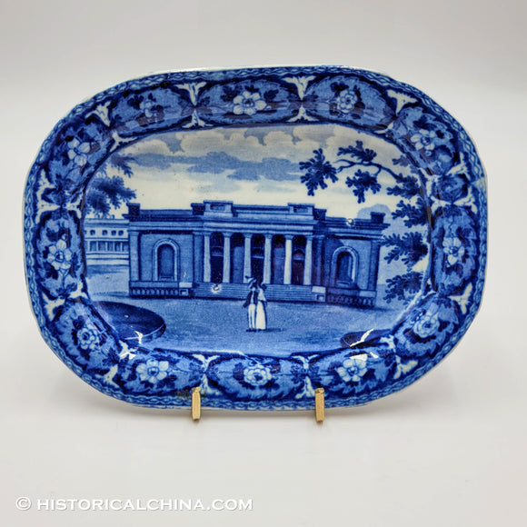 Bank of Savannah Tray Historical Blue Staffordshire Ridgway Beauties America Series ZAM-574