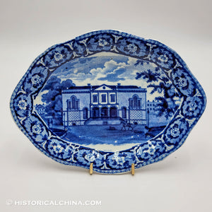 Charlestown Exchange Tray Historical Blue Staffordshire Ridgway Beauties America Series ZAM-189