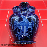 Seal of the United States Eagle Pitcher Historical Staffordshire Dark Blue Transfer ZAM-257