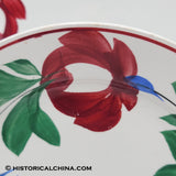 "Pair of Late ""Adams Rose"" Staffordshire Hand Painted Plates Circa 1860 LAM-46"