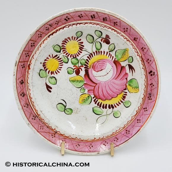 200 YEARS OLD Beautiful Hand Painted Staffordshire