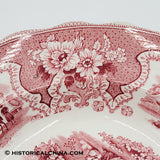 Palestine Soup Plate Red Transfer Staffordshire LAM-96