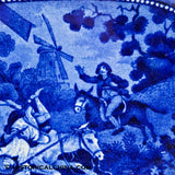 Don Quixote Attack Upon the Mills Reticulated Tray Historical Blue Staffordshire ZAM-482