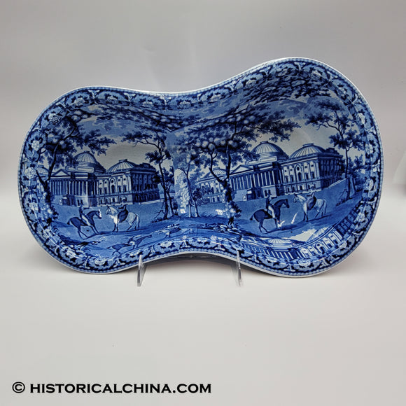 Capitol Washington Charleston Exchange Bidet Historical Blue Staffordshire ZAM-3