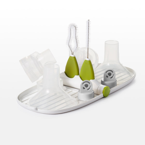 ชุดล้างที่ปั้มนม l oxo tot Breast Pump Parts Drying Rack with Detail Brushes
