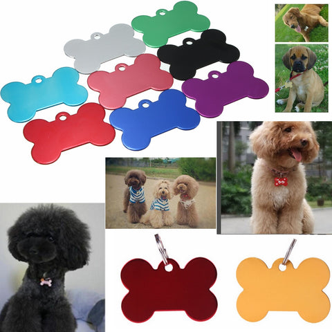 Pet ID Tag Personalized Bone Shape Collar - ForHappyPets.com