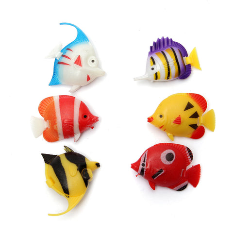6 pieces Aquarium Artificial Fishes - ForHappyPets.com