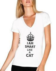 Tee ''I am Smart like a Cat''. Women's Tees, T-Shirts & Tops!