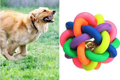 Amazing Pet Rubber Ball Bell Toy - ForHappyPets.com