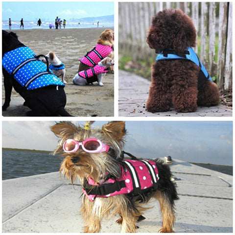 Large Size Waterproof Life Jacket For Dog Cat - ForHappyPets.com