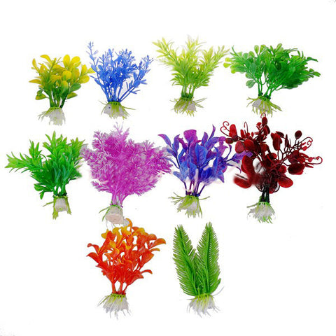 10 Pieces Aquarium Artificial Plants - ForHappyPets.com