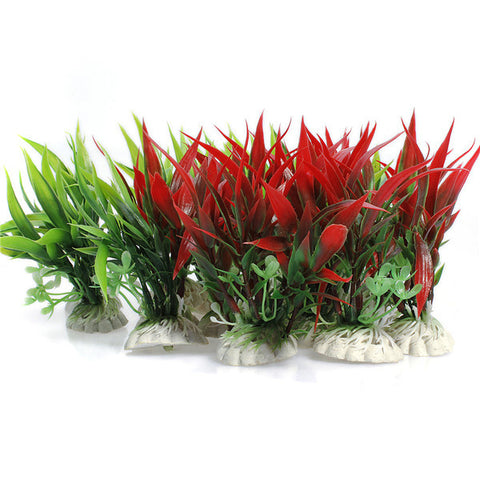 Plastic Fish Tank Aquarium Decoration Plants - ForHappyPets.com