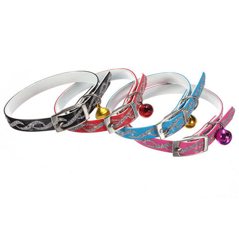 Adjustable Pet Dog Cat Safety Collar With Necklet Bell - ForHappyPets.com
