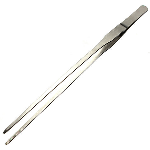 Stainless Steel Aquarium Straight Tweezers 27 cm - ForHappyPets.com