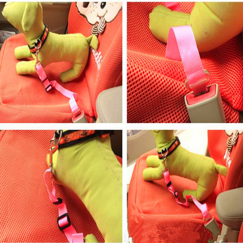 Pet Car Safety Seat Belt Harness Lead - ForHappyPets.com