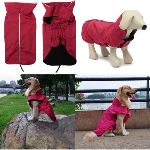 Lined Waterproof Doggy Coat Jacket - ForHappyPets.com