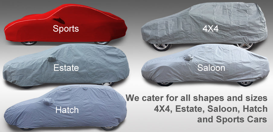all types of car covers