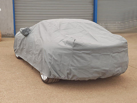 fitted car cover with mirror pockets