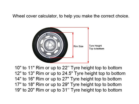 car wheel covers sizes