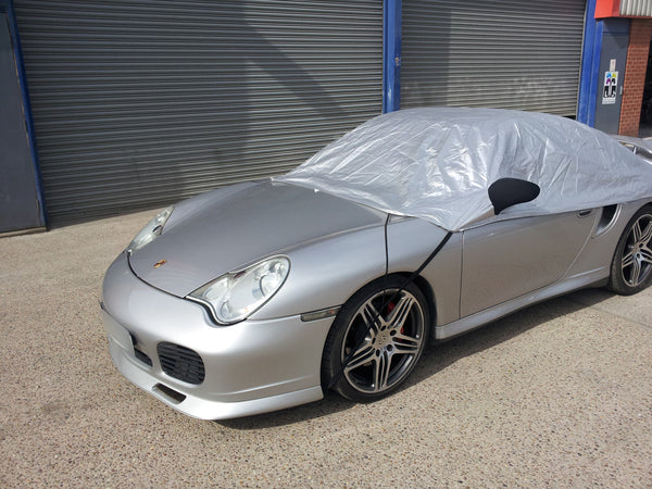 Porsche 996 (911) C2/S (no fixed rear spoiler) Carrera 1997 - 2004 Half Size Car Cover