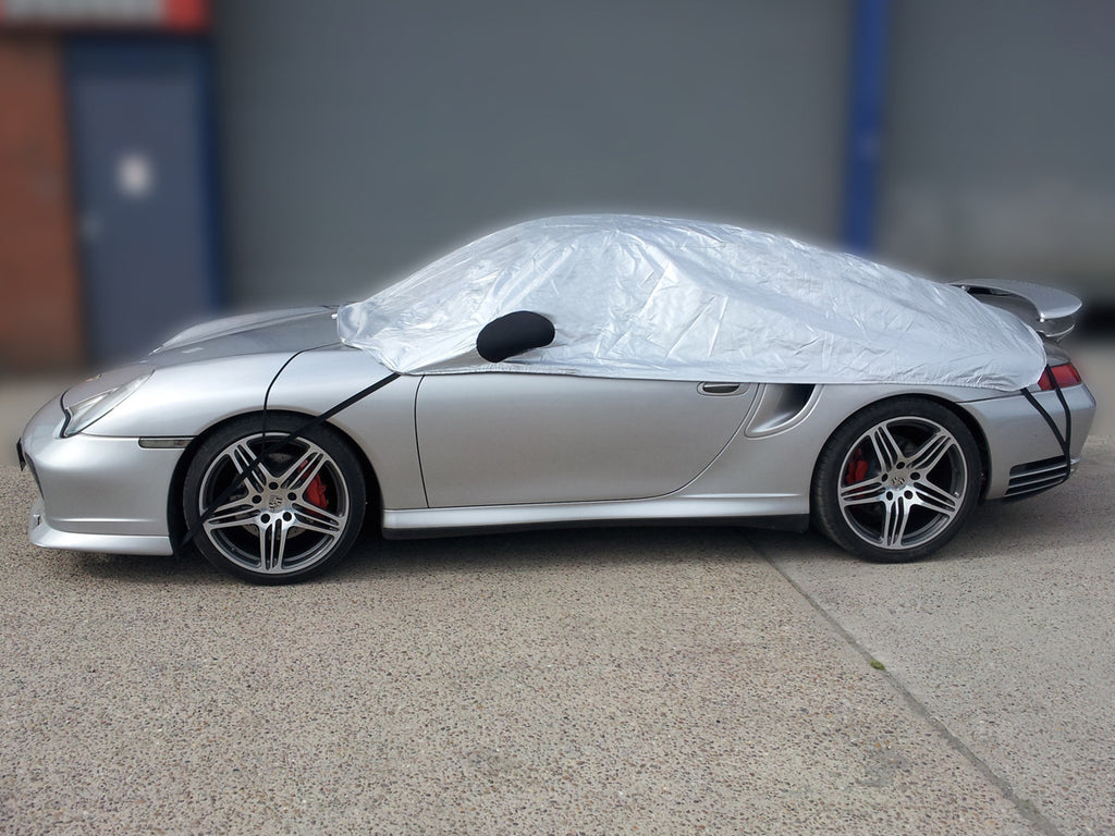 Porsche 996 (911) Turbo 911 fixed rear spoiler 2005 onwards Half Size Car Cover