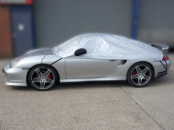 Porsche 997 (911) C2/S no fixed rear spoiler Carrera 2005 - 2011 Half Size Car Cover