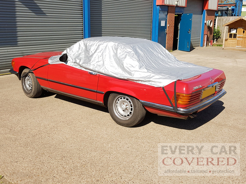 Mercedes 280SL to 560SL (R107) 1971 - 1989 Half Size Car Cover (longer version)
