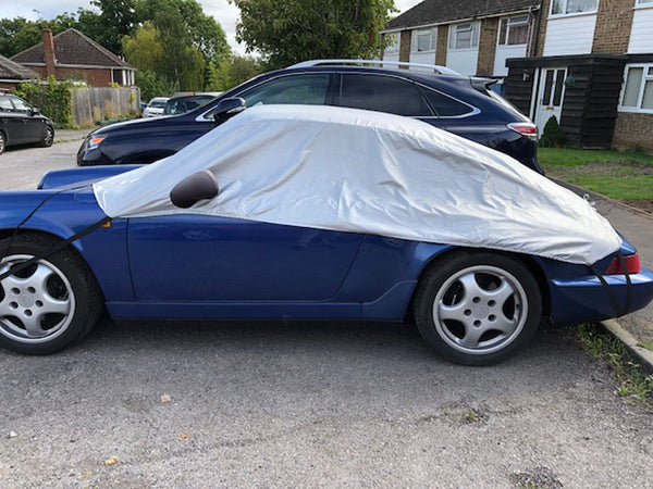 Porsche 993 (911) no fixed rear spoiler 1993 - 1997 Half Size Car Cover