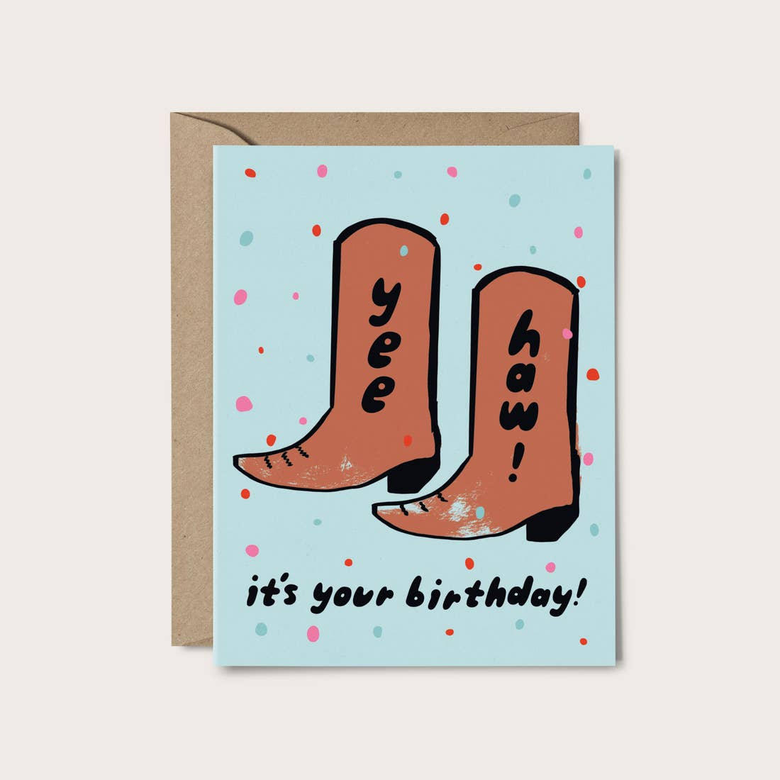 YEE HAW BIRTHDAY CARD