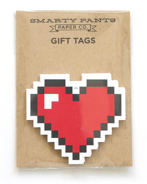 PIXELATED HEART GIFT TAGS