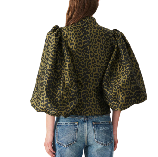 GANNI KENNEDY PUFF SLEEVE BLOUSE