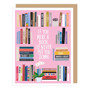 BOOKSHELF VALENTINE'S DAY CARD