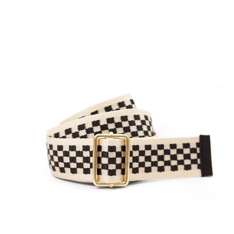 CLARE V. CHECKERED BELT