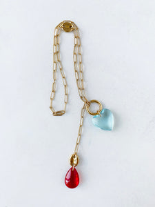 FORGET ME NOT NECKLACE / EARRING